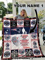 New England Patriots – Personalized Name Quilt Blanket