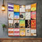 Wayne Dyer Books Quilt Blanket