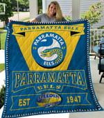 Parramatta Eels Quilt Blanket Lc1
