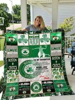 Boston Celtics – To My Daughter – Love Mom Quilt Blanket