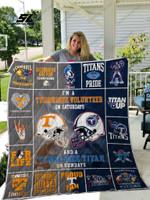 Tennessee Volunteers &Amp; Tennessee Titan Quilt Blanket