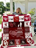 Oklahoma Sooners – To My Son – Love Dad Quilt Blanket