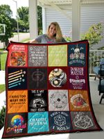 Dungeons And Dragons Collage Quilt Blanket