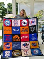 Philadelphia 76ers All Season Plus Size Quilt Blanket