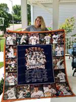 Houston Astros Baseball All Season Plus Size Quilt Blanket