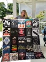 Led Zeppelin Tour Shirts Quilt Blanket