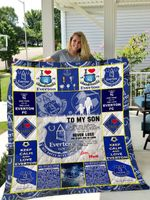 Everton F.C – To My Son – Love Mom Quilt Blanket