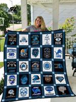 Detroit Lions Caro Quilt Blanket