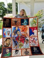 Novak Djokovic Quilt Blanket 01