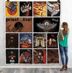 Judas Priest Albums Quilt Blanket Ver14