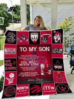 Toronto Raptors - To My Son Quilt Blanket