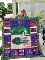 Florida Gators – To My Grandson – Love Grandmom Quilt Blanket