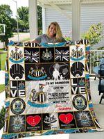 Newcastle United F.C – To My Grandson – Love Grandpa Quilt Blanket