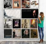 Eric Clapton Albums Quilt Blanket