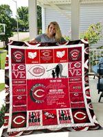 Cincinnati Reds – To My Son -Love Mom Quilt Blanket