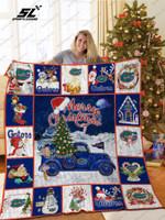 Bl – Florida Gators Christmas Truck Quilt Blanket