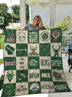 Milwaukee Bucks Quilt Blanket Ver 25