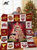 Wwe Legends Of Wrestlemania Christmas Quilt Blanket