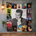 Conway Twitty Style Three Album Covers Quilt Blanket
