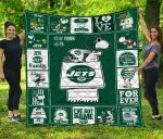 New York Jets Quilt Blanket Fan Made