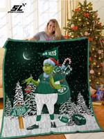 Bl-Nyj Grinch Santa Quilt Blanket
