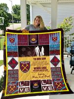 West Ham United F.C – To Our Son – Love Mom And Dad Quilt Blanket