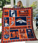Denver Broncos Quilt Blanket 01