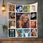Olivia Newton-John Album Covers Quilt Blanket