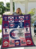 Minnesota Twins – To My Grandson – Love Grandmom Quilt Blanket