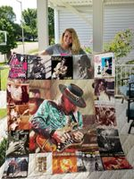 Stevie Ray Vaughan Style 2 Quilt Blanket