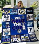 St. Louis Blues Quilt Blanket 01
