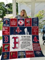 H – Boston Red Sox D Quilt Blanket