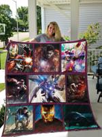 Iron Man Superhero Fabric Quilt Blanket