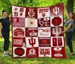 Indiana Hoosiers Quilt Blanket Fan Made