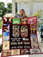 50 Years Of Zz Top Quilt Blanket