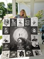 The Nightmare Before Christmas T-Shirt Quilt Blanket