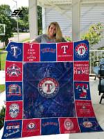 Mlb – Texas Rangers Quilt Blanket 02
