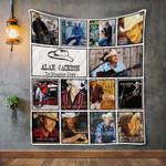 Alan Jackson Album Covers Quilt Blanket