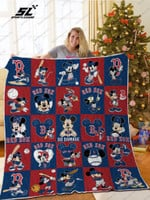 H – Boston Red Sox Dn Quilt Blanket