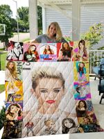 Miley Cyrus Quilt Blanket 01149