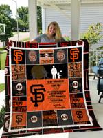 San Francisco Giants- To My Grandson – Love Grandpa Quilt Blanket