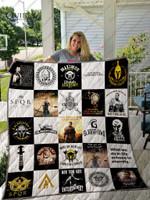 Gladiator T-Shirt Quilt Blanket Ver25