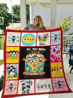 The Beatles Chibi  Quilt Blanket 02