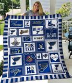 St. Louis Blues Quilt Blanket