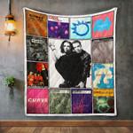 Curve Album Covers Quilt Blanket