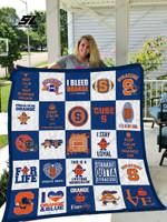 Syracuse Orange Quilt Blanket 02