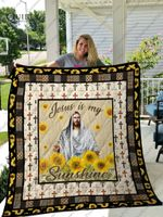 Jesus Is My Sunshine Quilt Blanket