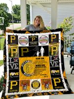 Pittsburgh Pirates – To My Son – Love Dad Quilt Blanket