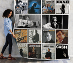 Johnny Cash Albums Quilt Blanket 02