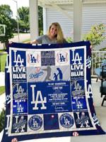 Los Angeles Dodgers – To My Grandson – Love Grandmom Quilt Blanket